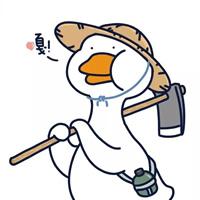一组敲可爱鸭鸭卡通头像