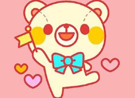粉色背景可愛呆萌系泰迪熊圖片欣賞
