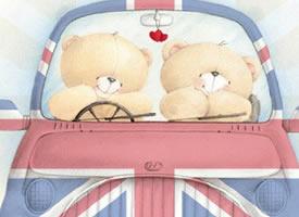 泰迪熊與朋友呆萌的好看圖片