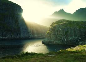 山光明媚水色秀丽的自然风光图片欣