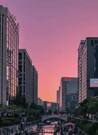 韩国首尔街头的拍摄图片欣赏