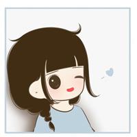 超可爱长发大眼萌脸卡通女孩头像