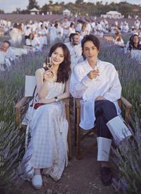 戚薇李承鉉出席薰衣草音樂節,畫面太美,顏值爆表 ? ????