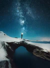 希腊,星空大海的完美融合 图片欣赏