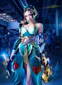 cosplay王者荣耀虞姬森之风灵图片