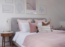 淡粉色的氣質溫柔房間裝修效果圖