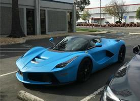 法拉利LaFerrari,如此的哑光蓝仅此一辆