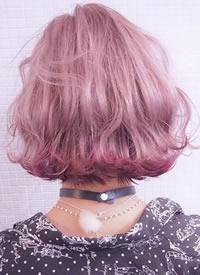 各类色彩的女生樱花粉发色参考