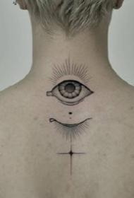 9张关于眼睛的一组各部位眼睛纹身图案赏析