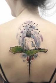 新现代很有创意的一组点刺彩色纹身图案9张