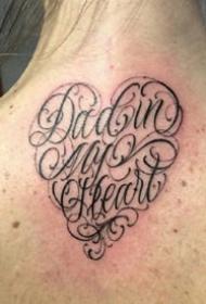 英文花体字纹身:9张个性的花体字英文字母纹身图案