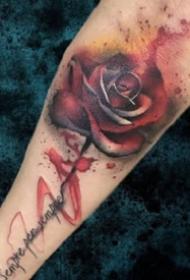创意的一组合适小臂的水彩纹身作品图案9张