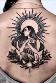 暗黑风格的一组太阳元素的纹身作品图片