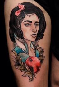手臂女郎纹身:9张大臂和腿部的一组彩色女郎纹身图案