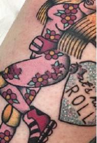 彩色的一组oldschool小纹身作品图片9张