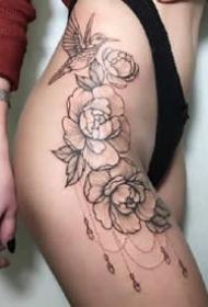 很性感的一组女士大腿侧部的纹身图案欣赏