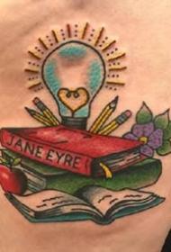 9张形容老师的一组教师书籍纹身图案作品欣赏