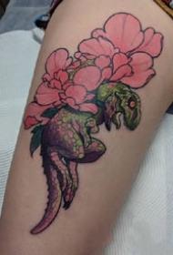 独特特性风格的一组植物创意纹身图案观赏