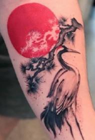 一组水墨风格的小纹身图案作品观赏