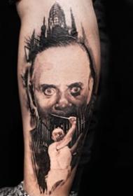 手臂影视人物:纹在胳?#37319;?#30340;欧美影视人物肖像写实纹身