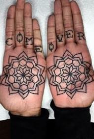 手掌心纹身:纹在手板心里的个性纹身图案欣赏