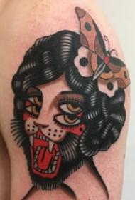 oldschool风格的一组彩色小纹身图片欣赏