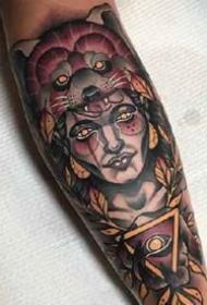 男性手臂和前胸的一组新传统纹身图案