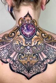 耀眼的一组9张创意钻石纹身图案欣赏