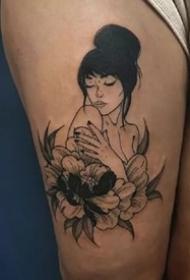 一组日式风格的暗黑小纹身作品9张