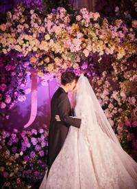 唐嫣羅晉童話般的婚禮現場跟拍圖欣
