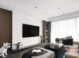 105㎡现代风格家居设计,注重功能需求的同时,简洁大方得恰到好处