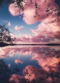 一组超好看的粉色云朵拍摄图片