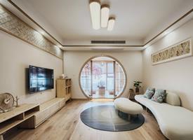 106㎡素雅日式风家居设计,回归自然的温馨感