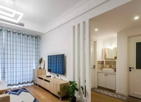 120平简约北欧三居室装修效果图