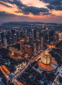 一组杭州夜景航拍图片欣赏