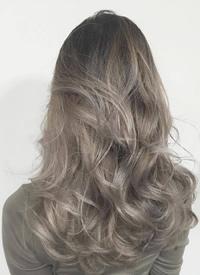 梦幻的雾灰系奶茶色hair style真心美