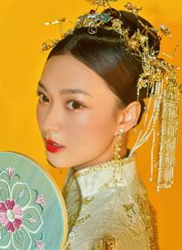 高级感新中式新娘发型造型 传统的美