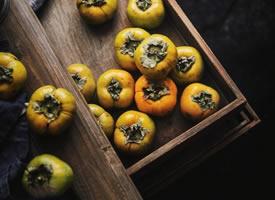 一组意境感十足的柿子拍摄图片