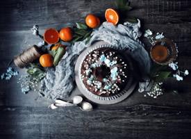 一组意境感超美的巧克力黑蛋糕
