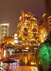 重庆洪崖洞的夜景拍摄图片欣赏