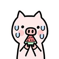 一组超可爱的粉色卡通小猪猪头像欣赏