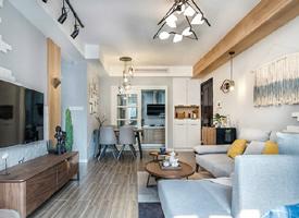 84平精致北欧风二居室,温馨舒适的小家