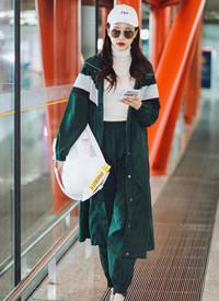 黄一琳休闲时尚机场照图片