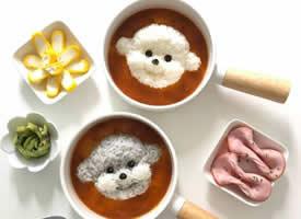 韩国妈妈为孩子制作的可爱餐