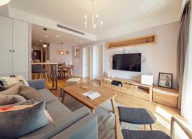 一組簡約時尚的兩居室裝修效果圖
