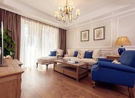 98㎡簡約美式風格家居裝修設計案例,色調柔和又舒適溫馨