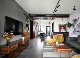 109㎡工业LOFT风,个性狂野却不失浪漫优雅的住宅设计 