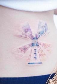 45张适合女生的小清新小彩色纹身图案
