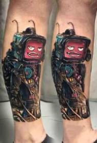 欧美科幻电影中的彩色纹身图案欣赏