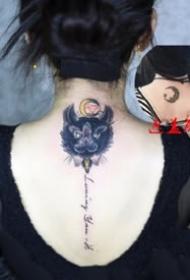 猫咪刺青:女士身上的好看小猫图案纹身